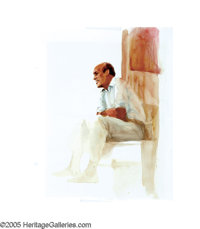 BARON VON LIND (American b.1937) Untitled Watercolor on illustration board 15in. x 12.5in. Signed lower right