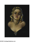 Illustration:Pin-Up, ZOE MOZERT (American 1904-1993) . Untitled, 1939 . Pastel onboard . 21in. x 17in. . Signed lower right: Zoe Mozert...