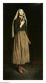NORMAN ROCKWELL (American, 1894-1978) The Song of Bernadette, 1944 Oil on canvas 53 x 28 inches (134.6 x 71.1 cm) Or...
