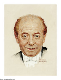NORMAN ROCKWELL (American 1894-1978) Portrait of Eugene Ormandy, circa 1960 Oil on canvas 13.5in. x 10in. Signed