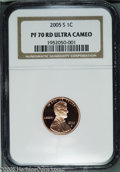 Proof Lincoln Cents: , 2005-S 1C PR70 Deep Cameo NGC. PCGS Population (45/0). ...