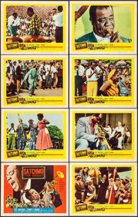 """Satchmo the Great (United Artists, 1957). Lobby Card Set of 8 (11"""" X 14""""). Musical. ... (Total: 8 Items)"""