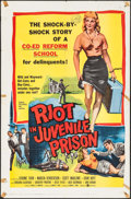 """Movie Posters:Exploitation, Riot in Juvenile Prison (United Artists, 1959). One Sheet (27"""" X 41""""). Exploitation.. ..."""