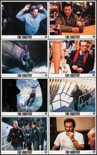 """The Fugitive & Other Lot (Warner Brothers, 1993). Mini Lobby Card Sets of 8 (2 Sets) (8"""" X 10""""). Thril..."""