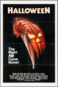 "Halloween (Compass International, 1978). One Sheet (27"" X 41""). Blue Ratings Box Style. Horror"