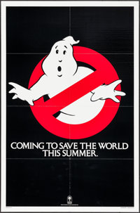 "Ghostbusters (Columbia, 1984). One Sheet (27"" X 41""). Teaser. Comedy"