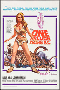 "One Million Years B.C. (20th Century Fox, 1966). One Sheet (27"" X 41""). Fantasy"