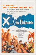 """Movie Posters:Science Fiction, X... the Unknown (Warner Brothers, 1957). One Sheet (27"""" X 41""""). Science Fiction.. ..."""