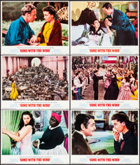 """Gone with the Wind (MGM, R-1968/R-1974). Lobby Cards (9) (11"""" X 14""""). Academy Award Winners. ... (Total: 9 Ite..."""