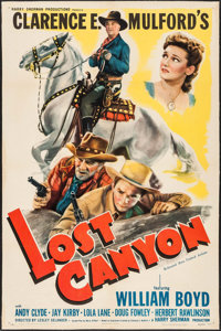"Lost Canyon (United Artists, 1942). One Sheet (27"" X 41""). Western"