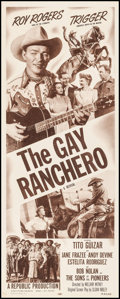 "The Gay Ranchero (Republic, R-1952). Insert (14"" X 36""). Western"