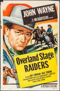 "Movie Posters:Western, Overland Stage Raiders (Republic, R-1953). One Sheet (27"" X 41""). Western.. ..."