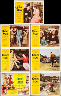 """The Quiet Man (Republic, 1952). Title Lobby Card & Lobby Cards (6) (11"""" X 14""""). Drama. ... (Total: 7 I..."""