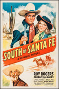 "Movie Posters:Western, South of Santa Fe (Republic, 1942). One Sheet (27"" X 41"").Western.. ..."