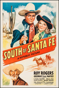"South of Santa Fe (Republic, 1942). One Sheet (27"" X 41""). Western"