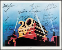 "Stars of 20th Century Fox (Nostalgia Merchant, 1981). Autographed Poster (24"" X 30""). Miscellaneous"