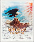 "Movie Posters:Serial, Stars of Republic Pictures (Nostalgia Merchant, 1981). AutographedPoster (24"" X 30""). Miscellaneous.. ..."