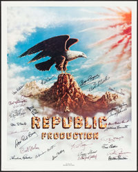 "Stars of Republic Pictures (Nostalgia Merchant, 1981). Autographed Poster (24"" X 30""). Miscellaneous"