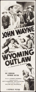 "Movie Posters:Western, Wyoming Outlaw (Republic, R-1953). Insert (14"" X 36""). Western.. ..."