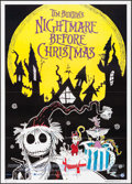 "Movie Posters:Animation, The Nightmare Before Christmas (Touchstone, 1993). Italian 2 -Fogli (39"" X 55""). Animation.. ..."