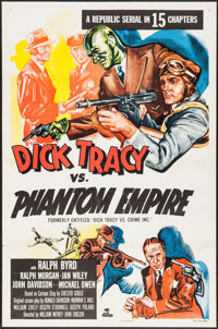 "Dick Tracy vs. the Phantom Empire (Republic, R-1952). Identical Flat Folded One Sheets (5) (27"" X 41""). Serial..."