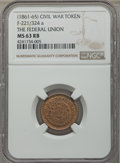 Civil War Patriotics, Four-Piece Group Lot of Civil War Patriotic Tokens, NGC-Certified.Included are: (1861-65) Army & Navy, F-257/311a, MS63 B...(Total: 4 coins)