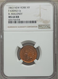 Civil War Merchants, Four-Piece Lot of Civil War Merchant Tokens, NGC-Certified.Included are: 1863 E.W. Atwood, Book Dealer, Bridgeport, CT, F...(Total: 4 coins)