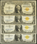 Small Size:World War II Emergency Notes, Fr. 2306 $1 1935A North Africa Silver Certificates. Four Examples. Very Fine or Better.. ... (Total: 4 notes)