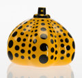 Post-War & Contemporary:Sculpture, Yayoi Kusama (b. 1929). Yellow Pumpkin. Glazed porcelain. 2x 2-3/4 x 2-3/4 inches (5.1 x 7.0 x 7.0 cm). Stamped with th...