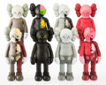 Fine Art - Sculpture, American:Contemporary (1950 to present), KAWS (b. 1974). Companion (Open Edition) (eight works),2016. Painted cast vinyl. 11 x 4-1/2 inches (27.9 x 11.4 cm) (ea...(Total: 8 Items)