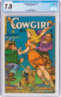 Golden Age (1938-1955):Western, Cowgirl Romances #8 (Fiction House, 1952) CGC FN/VF 7.0 Cream tooff-white pages....