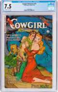 Golden Age (1938-1955):Romance, Cowgirl Romances #10 (Fiction House, 1952) CGC VF- 7.5 Off-white to white pages....