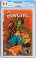 Golden Age (1938-1955):Western, Cowgirl Romances #11 (Fiction House, 1952) CGC VF+ 8.5 Cream tooff-white pages....