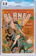 Golden Age (1938-1955):Science Fiction, Planet Comics #21 (Fiction House, 1942) CGC VG/FN 5.0 Cream to off-white pages....