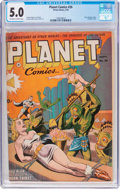Golden Age (1938-1955):Science Fiction, Planet Comics #26 (Fiction House, 1943) CGC VG/FN 5.0 Off-white towhite pages....