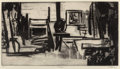 Fine Art - Work on Paper:Print, Mary Schulman (20th Century). Studio, n.d.. Lithograph onpaper. 8-7/8 x 16-1/4 inches (22.5 x 41.3 ...