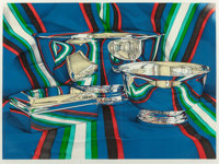 Jeanette Pasin Sloan (b. 1946) Silver Bowls, 1978 Lithograph in colors on paper 28 x 38 inches (7