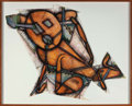 Prints & Multiples, Elizabeth Murray (1940-2007). Down Dog, 1988. Lithograph and collage in colors on Arches paper. 41 x 50-3/4 inches (104....