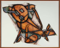 Elizabeth Murray (1940-2007) Down Dog, 1988 Lithograph and collage in colors on Arches paper 41 x