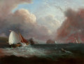 Paintings, Unknown Artist (20th Century). Boat in Waves, n.d.. Oil on board. 12-1/2 x 16 inches (31.8 x 40.6 cm). ...