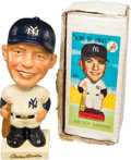 Autographs:Bats, 1962 Mickey Mantle Nodder with Original Box. ...