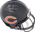 Football Collectibles:Helmets, Walter Payton Signed Chicago Bears Full Sized Authentic Helmet. ...
