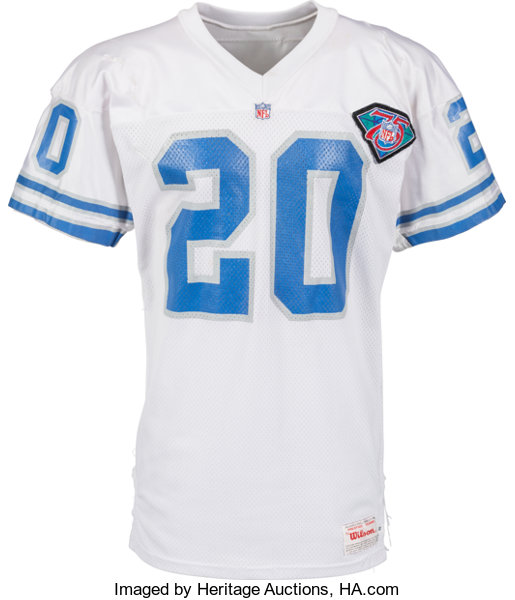 newest a9bce 25d17 1994 Barry Sanders Game Worn Detroit Lions Jersey with ...