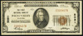 National Bank Notes:Oklahoma, Pauls Valley, OK - $20 1929 Ty. 1 The First NB Ch. # 5091. ...
