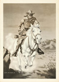 "Movie Posters:Western, The Lone Ranger (The Lone Ranger, Inc., 1940s). Radio Premium Poster (31"" X 22.5""). Western.. ..."