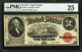 Large Size:Legal Tender Notes, Fr. 60 $2 1917 Legal Tender PMG Very Fine 25.. ...