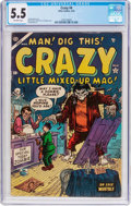 Golden Age (1938-1955):Humor, Crazy #4 (Atlas, 1954) CGC FN- 5.5 Off-white pages....