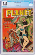 Golden Age (1938-1955):Science Fiction, Planet Comics #67 (Fiction House, 1952) CGC VF- 7.5 Off-white towhite pages....
