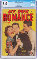 Golden Age (1938-1955):Romance, My Own Romance #8 (Marvel, 1949) CGC VF 8.0 Light tan to off-whitepages....