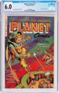 Golden Age (1938-1955):Science Fiction, Planet Comics #71 (Fiction House, 1953) CGC FN 6.0 Off-white towhite pages....